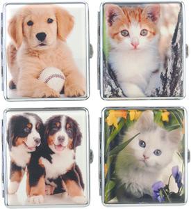 Tierfreundetui mit Katzen und Hundemotiv