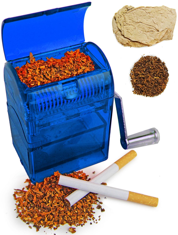 Tabakschredder für Tabakblätter Blau