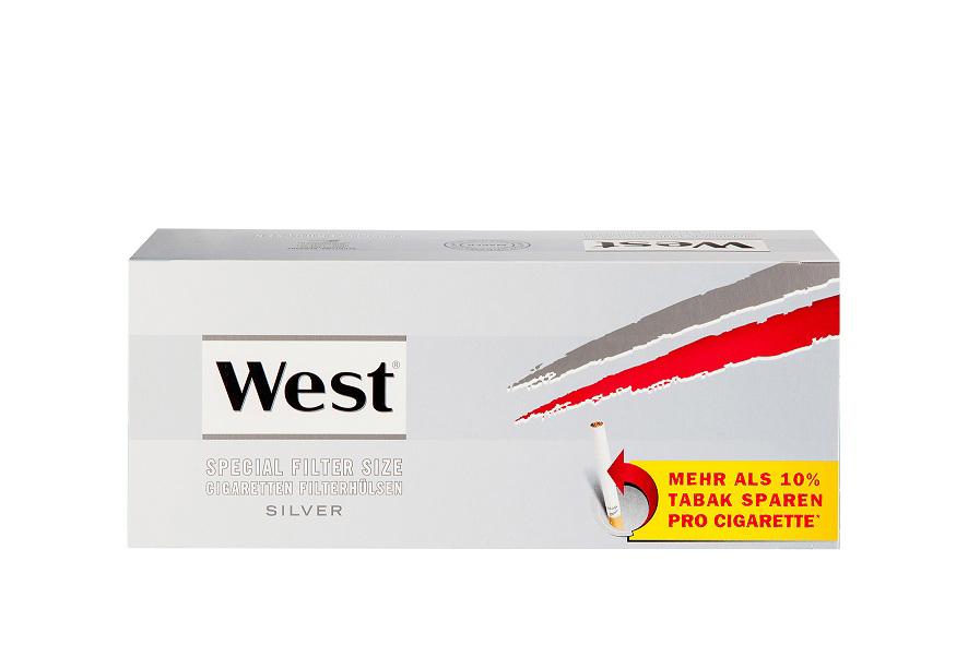 West Spezial Silber Zigarettenhülsen 250er