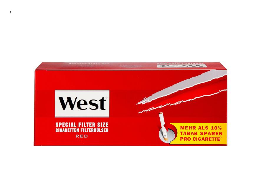 West Spezial Rot Zigarettenhülsen 250er