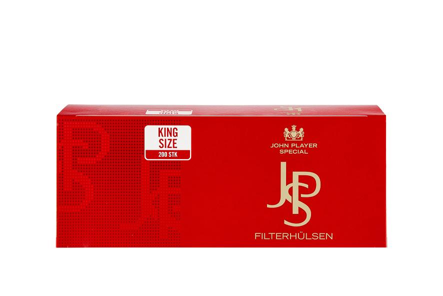 JPS Rot Zigarettenhülsen 200er