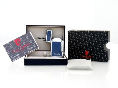 Pierre Cardin Luxus Feuerzeug Paris Silver Blue