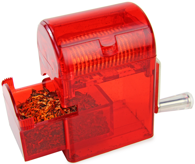 Tabakschredder für Tabakblätter Rot