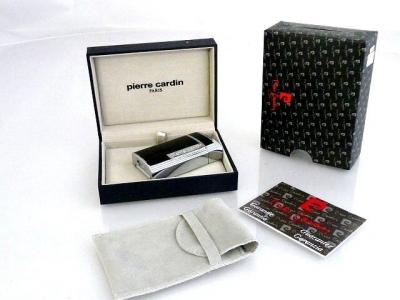 Pierre Cardin Luxus Feuerzeug Pipe Star Silver Black