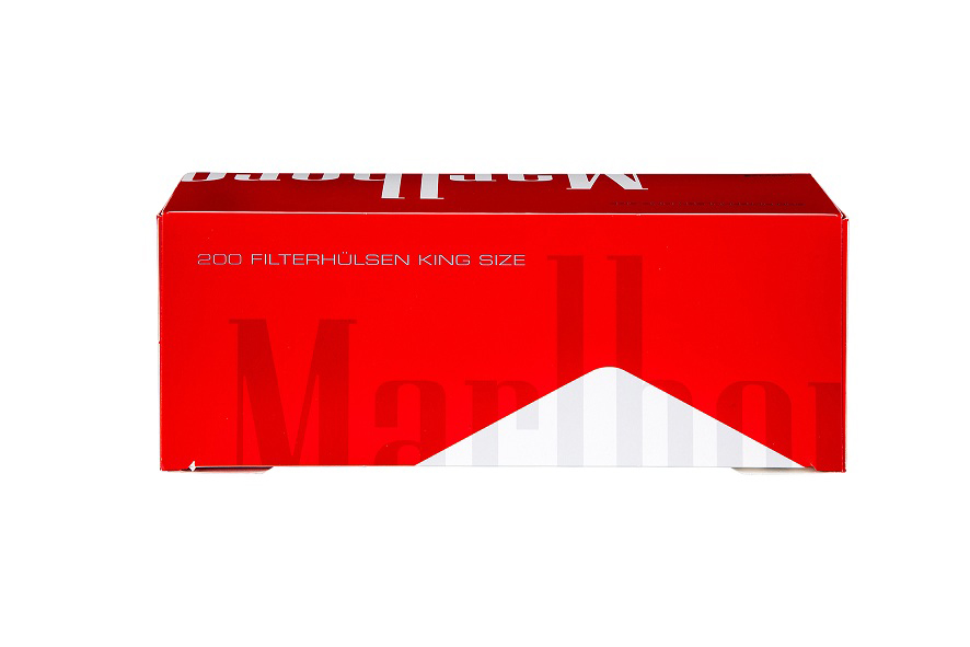Marlboro Rot-Zigarettenhülsen: 200er