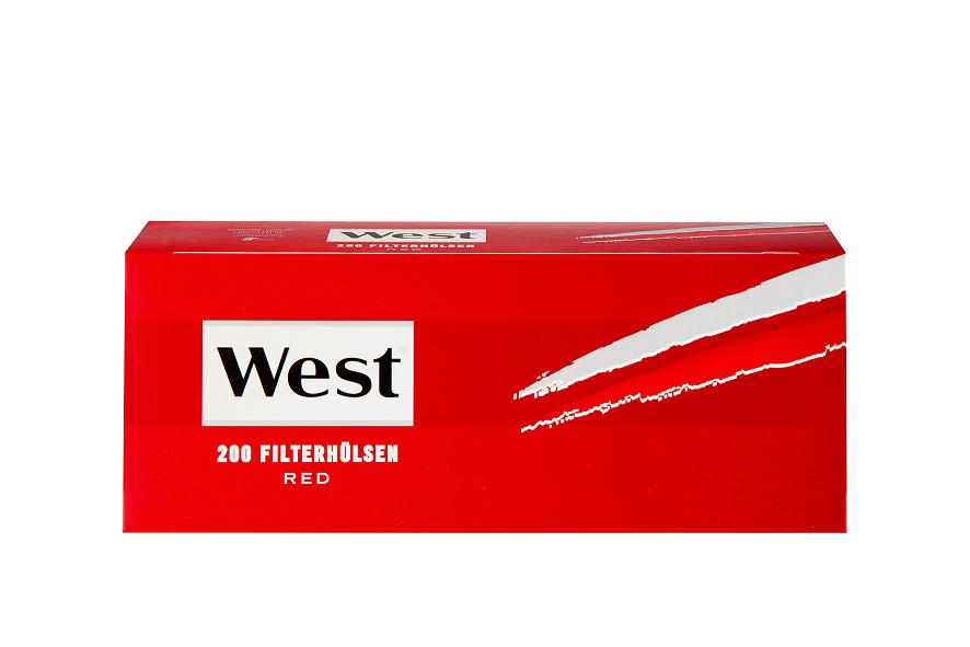 West Zigarettenhülsen Rot 200er