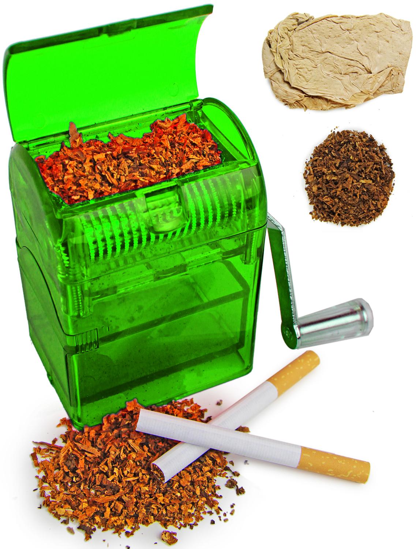 Tabakschredder für Tabakblätter Grün