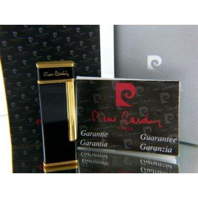 Pierre Cardin Luxus Feuerzeug Schwarz Gold