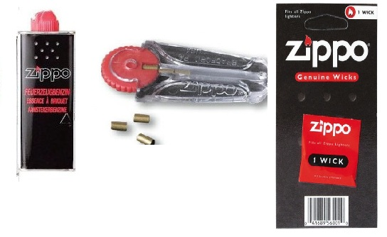 Zippo Sparset Benzin + Docht + Feuersteine