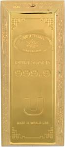 Massives Tisch-Feuerzeug in Form eines Goldbarren