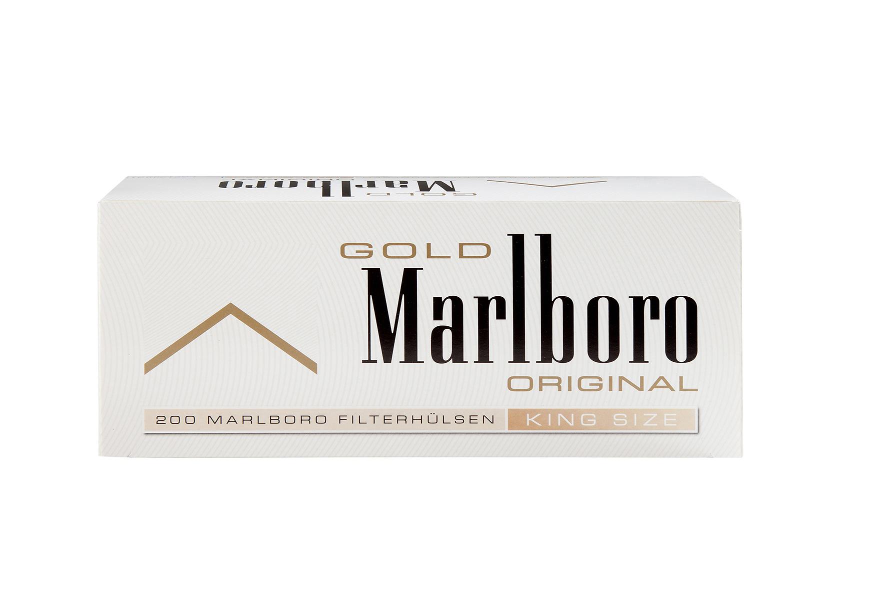 Marlboro Gold-Zigarettenhülsen: 200er