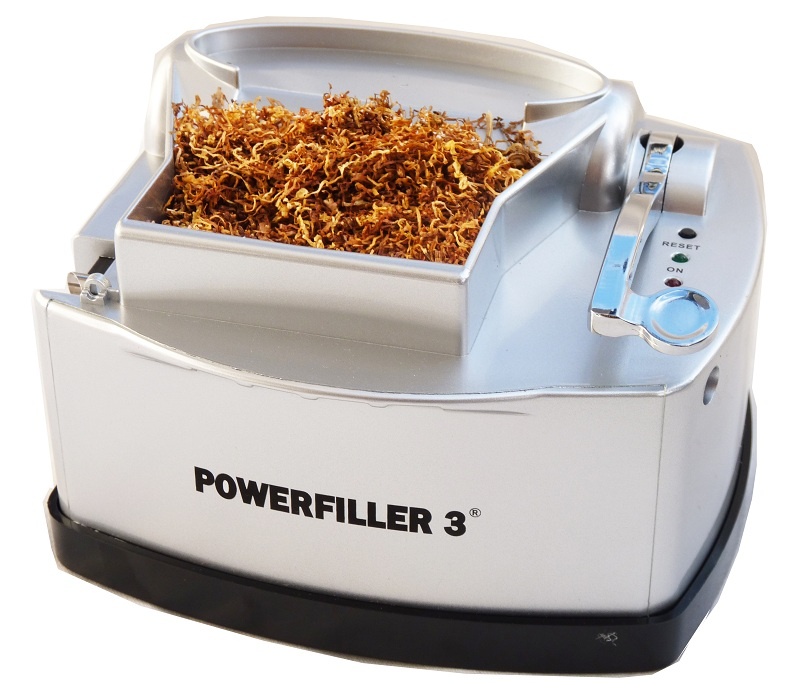 Hochwertige Stopfmaschine Powerfiller 3-S Silber