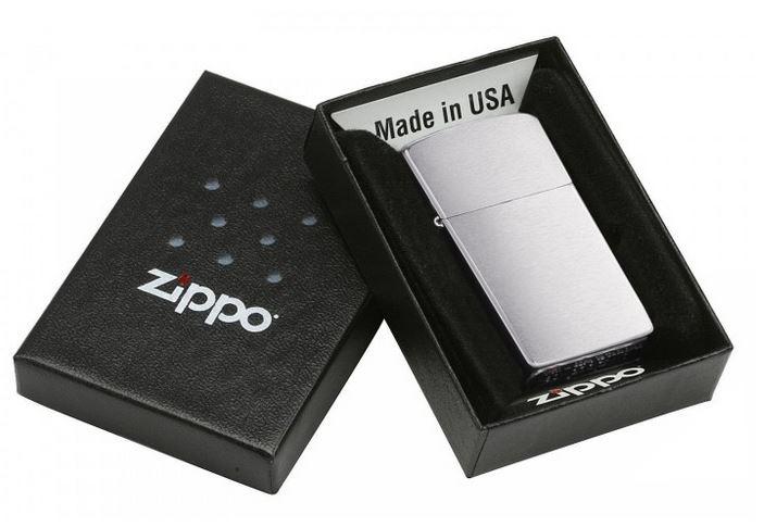 Original Zippo Feuerzeug Chrom gebürstet