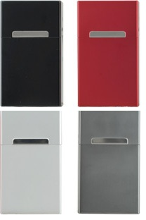 Design Zigaretten Alubox für 100mm Zigaretten